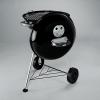 Вугільний гриль Weber Compact Kettle 47 см Чорний 10689