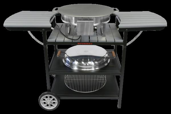 Электрический портативный стол-барбекю Muurikka Серый